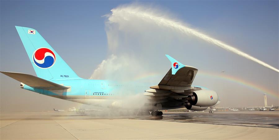 Korean Air A380 at DWC